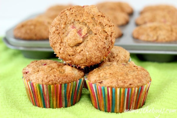 Whole Wheat Rhubarb Muffins