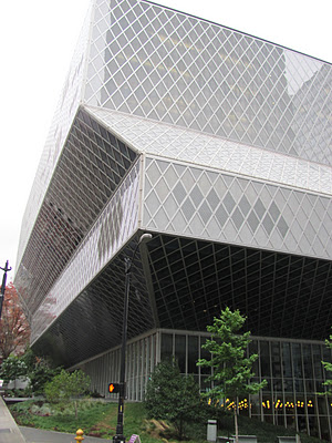 Joanna and I visited the Seattle Public Library during our Seattle getaway