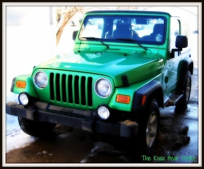 Our bright green Jeep TJ