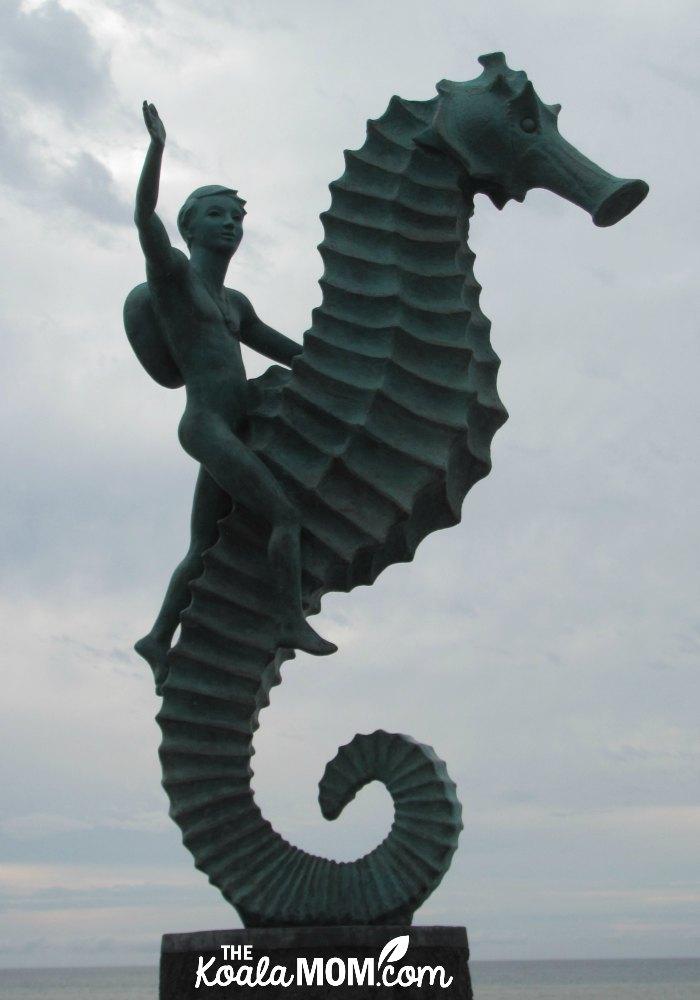 Sea horse sculpture in Puerto Vallarta, Mexico.