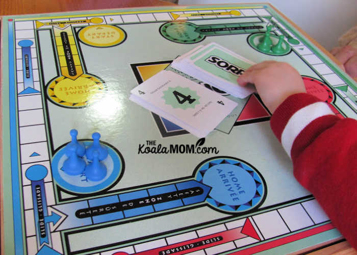 Sorry! is one of our favourite board games for preschoolers.