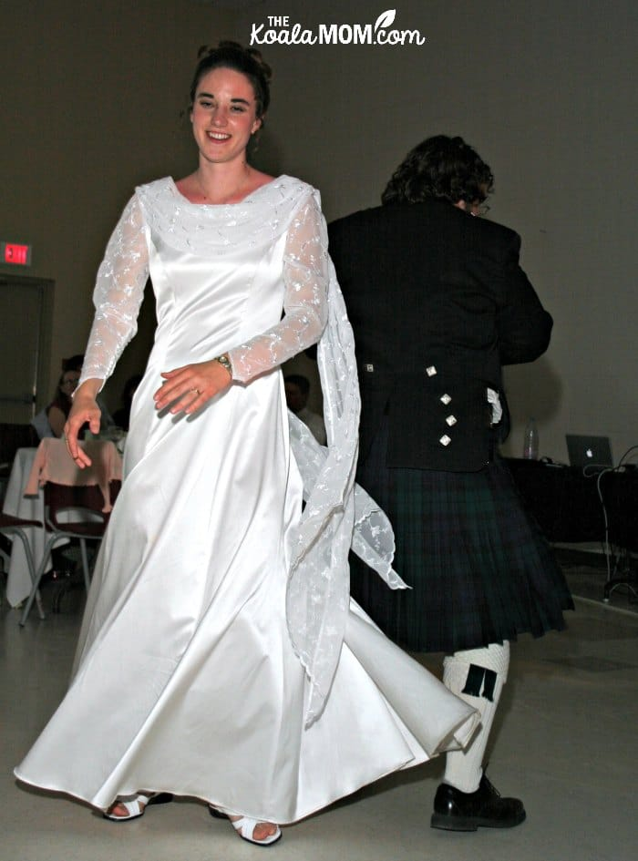 Dancing in what I wore to my wedding!