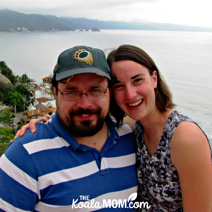 Bonnie and her husband on holiday together in Mexico, five years into their love story.