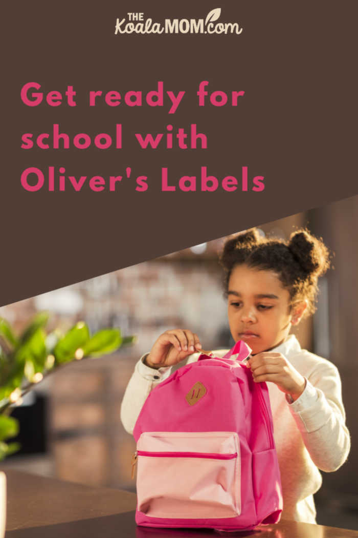 Getting ready for school with Oliver's Labels.