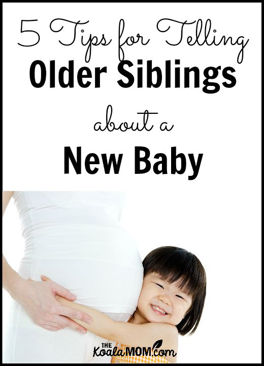 5 tips for telling older siblings about a new baby