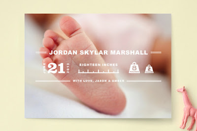 Minted.com's Birth Announcements