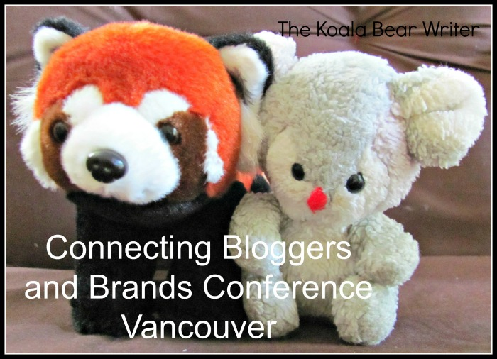 Koala Bear with the Telus Red Panda at Bloggers Brands YVR Conference
