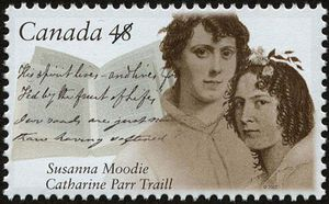 Susanna Moodie and Catharine Parr Traill commemorative Canadian stamp