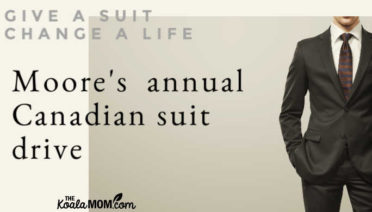 Give a suit change a life with Moore's annual Canadian Suit Drive from July 1-31.
