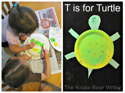 Paper plate turtle (and other alphabet crafts for preschoolers)