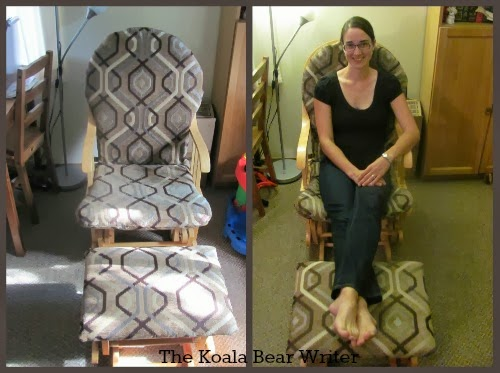 I share how to re-upholster glide rocking chair and stool, based on my recent DIY attempt to refurbish some second-hand furniture.
