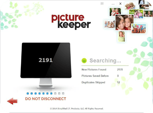 Picture Keeper searching screen