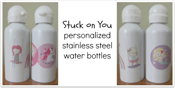 Stuck on You personalized water bottles
