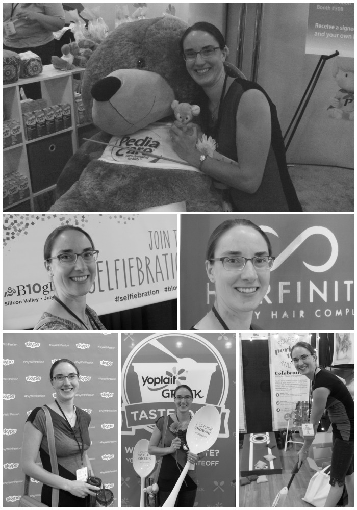 A collage of selfies by Bonnie Way at BlogHer14