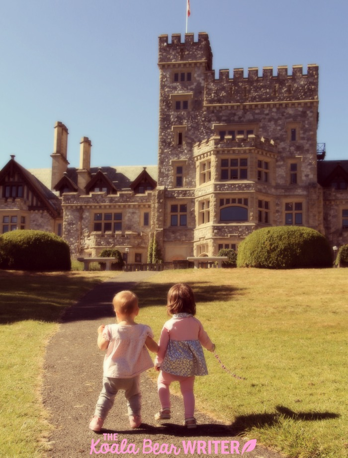 Two little princesses at Hatley Castle