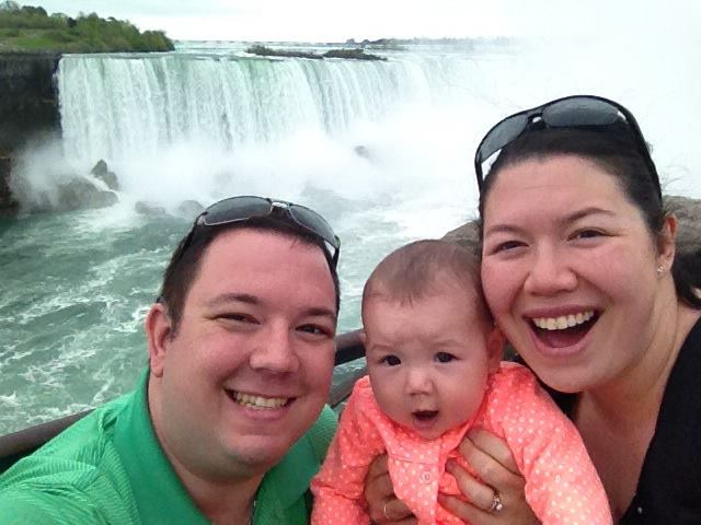 Monique (aka the Hard of Hearing Mommy) and her family at Niagara Falls