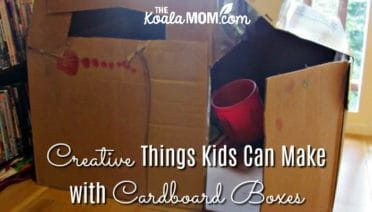 Creative things kids can do with cardboard boxes.