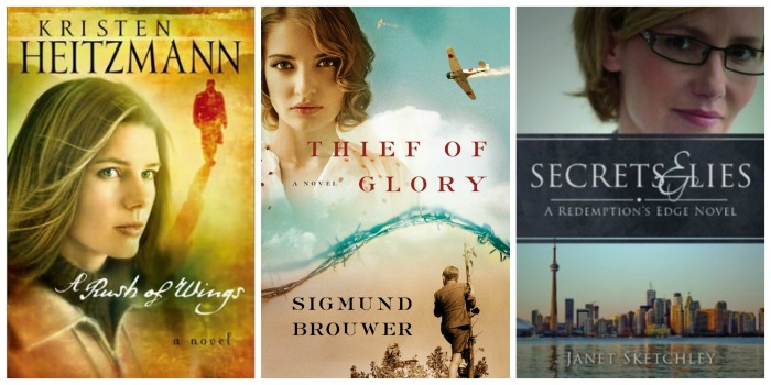 Best Books of 2014 - A Rush of Wings by Kristen Heitzmann, Thief of Glory by Sigmund Brouwer, and Secrets and Lies by Janet Sketchley