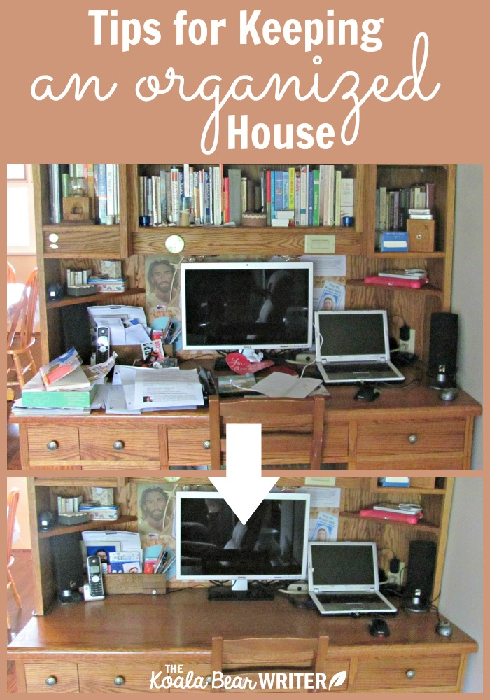 Tips for keeping an organized house