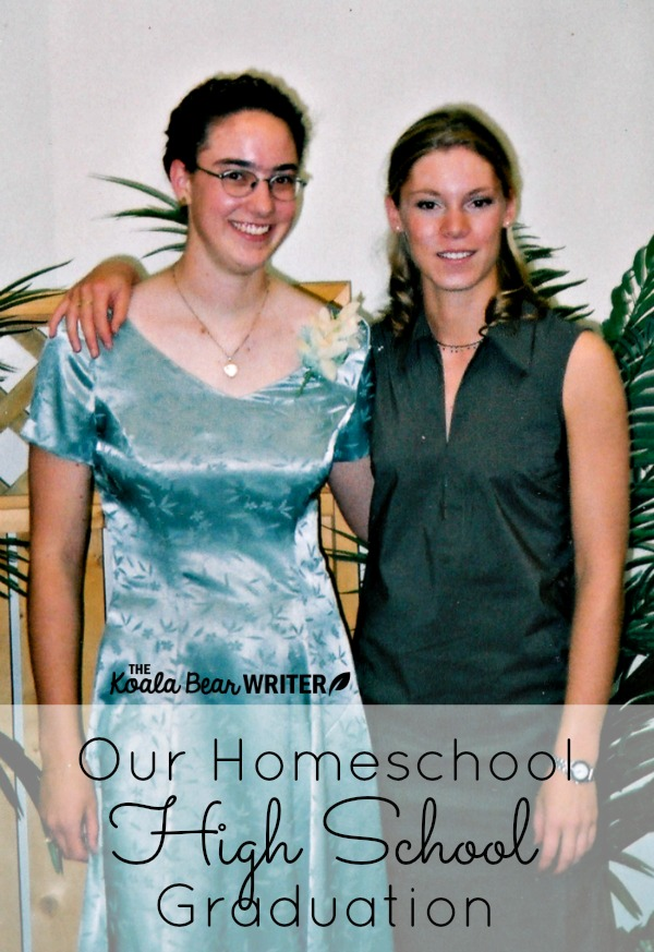 Elise and I at our homeschool high school graduation