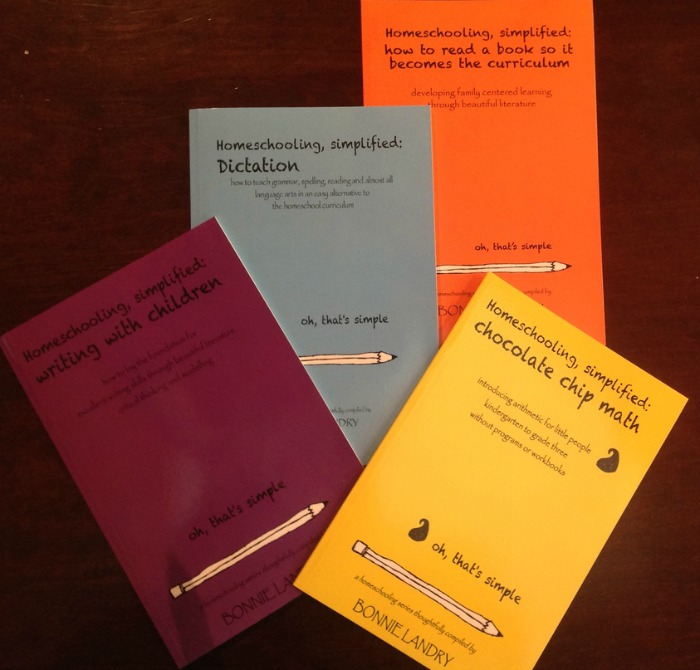 Homeschooling, Simplified booklets by Bonnie Landry, on dictation, math, reading, writing
