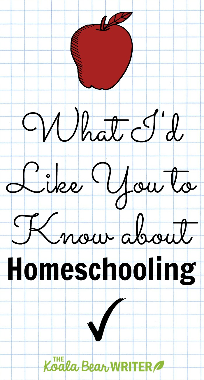 Lisa Marie Fletcher, a Canadian homeschooling mom of four, shares what she'd like you to know about homeschooling.