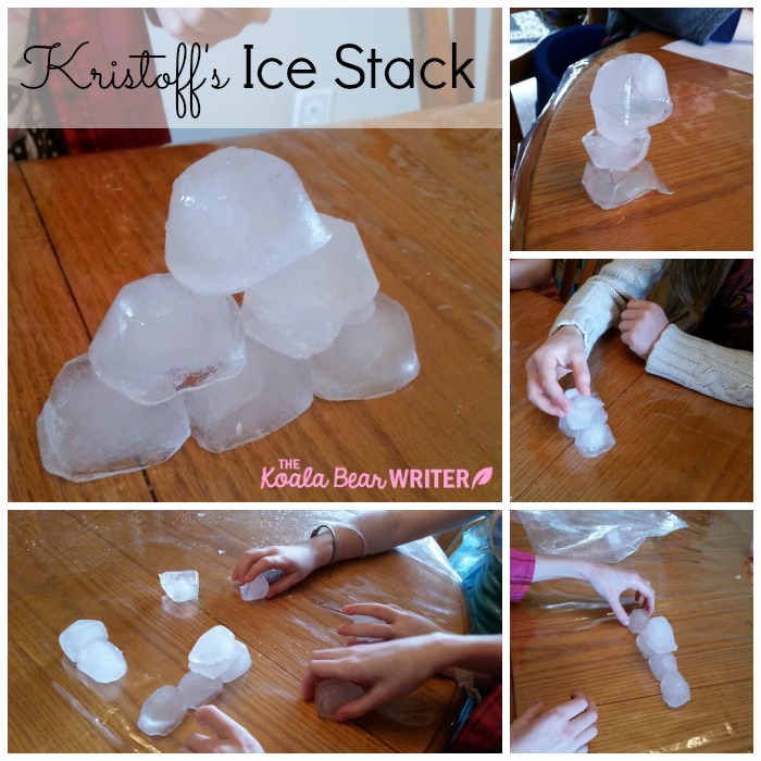 Kristoff's ice stack, a very Frozen party game!