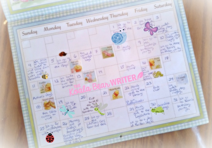 Baby's First Year Calendar with all of baby's milestones!