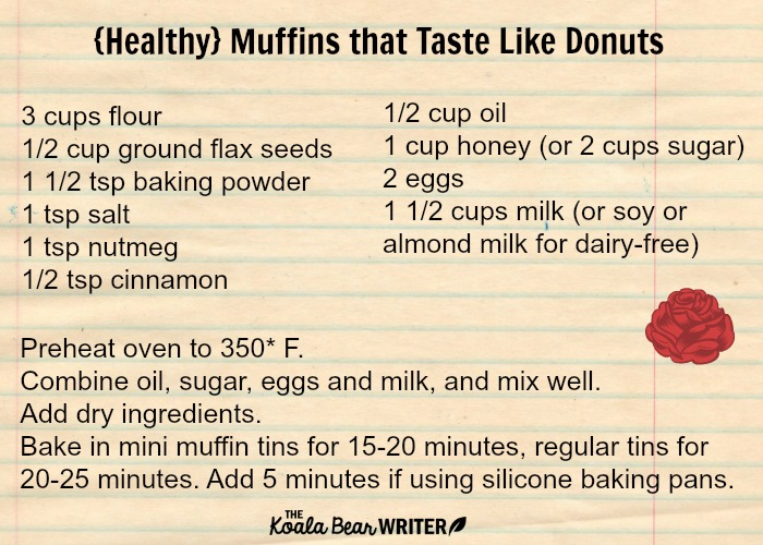Muffins that Taste Like Donuts recipe card