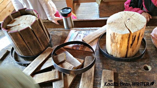 Making barrels at Fort Langley National Historic Site in BC