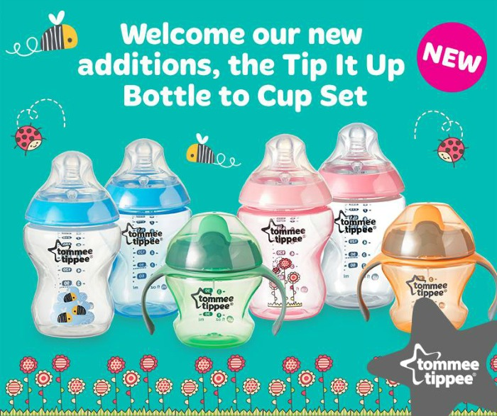 Tip It Up Bottle to Cup set from Tommee Tippee