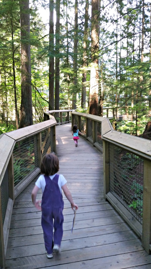 Following the paths at Capilano Suspension Bridge Park