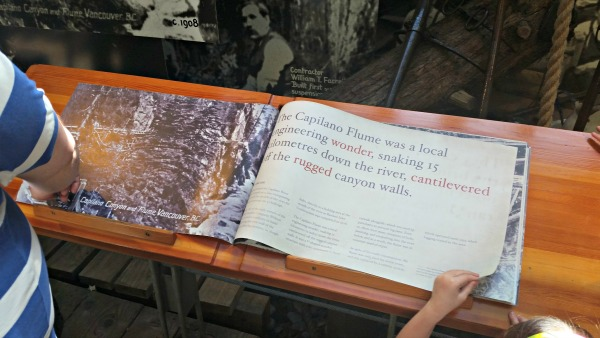 History book at Capilano Suspension Bridge Park