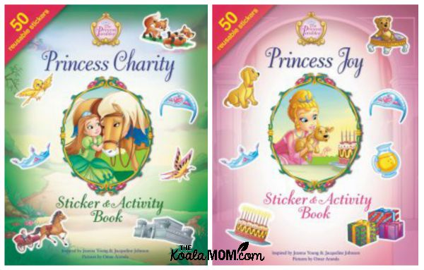 The Princess Parables sticker and activity books