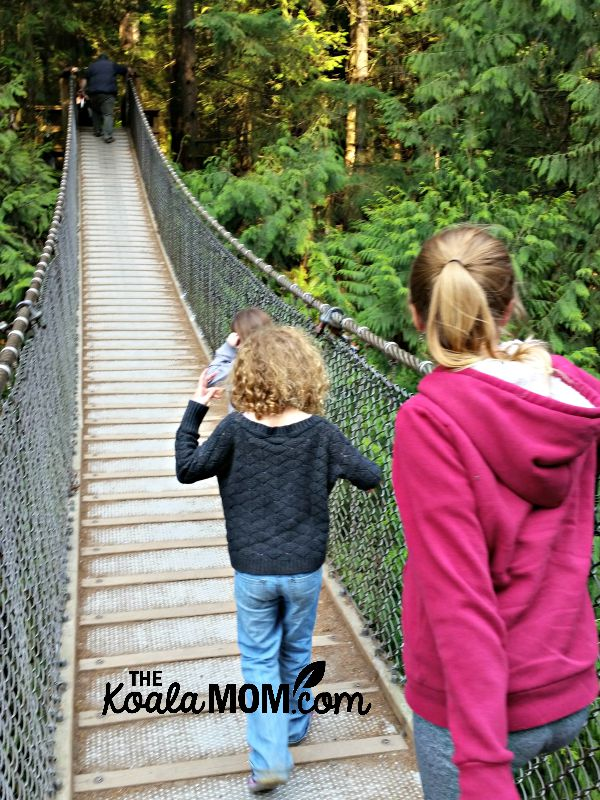Lynn Canyon Suspension Bridge, one of our favourite family-friend hikes around Greater Vancouver