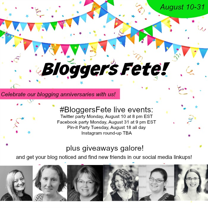 Bloggers Fete coming up on August 10 with online events and huge giveaways!