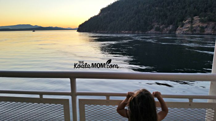 Jade watching the ocean from a BC Ferry