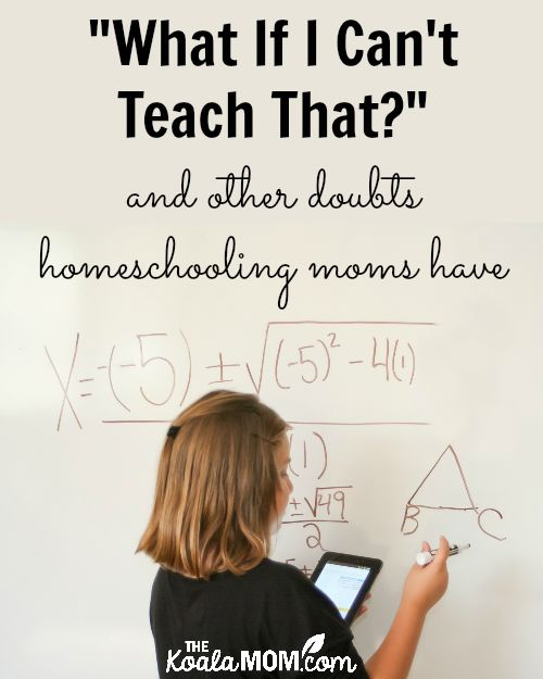 """What if I can't teach that?"" and other doubts homeschooling moms have"