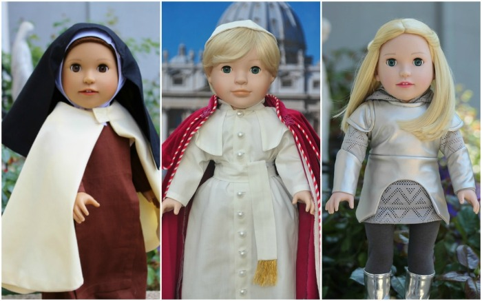 Dolls from Heaven: St. Therese, St. Joan of Arc, and Pope St. John Paul II