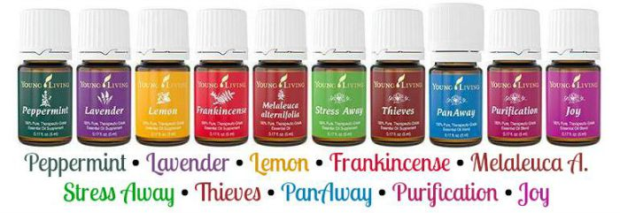 Young Living Everyday Oils collection (five essential oils and five essential oil blends)