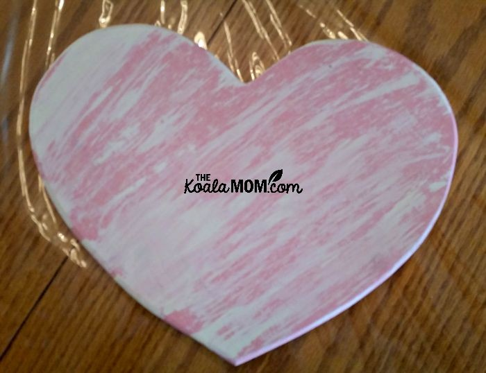 Pink heart plaque