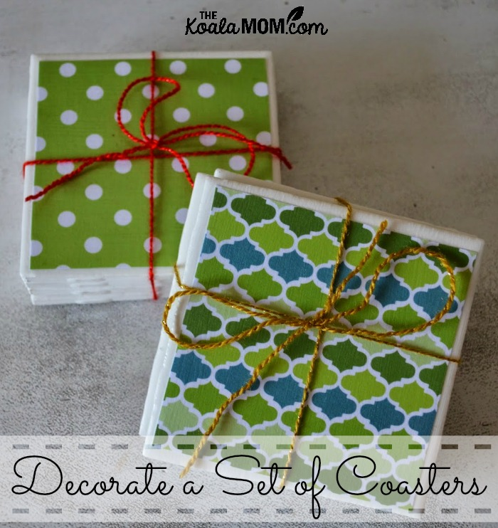 Decorate a set of coasters