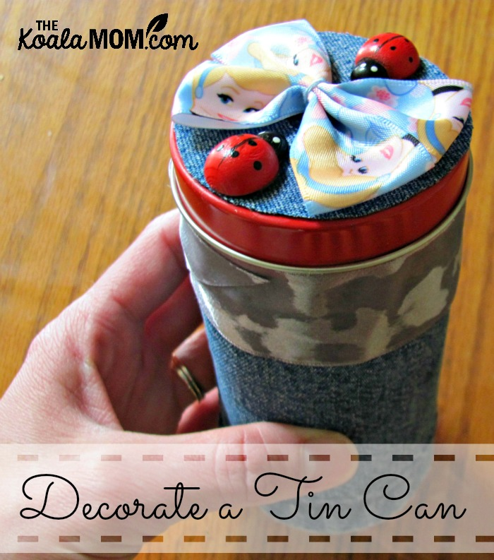 Decorate a tin can