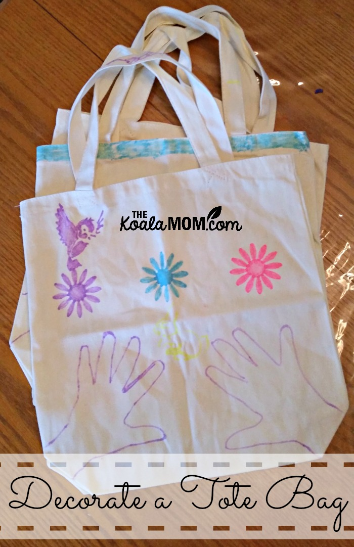 Decorate a tote bag