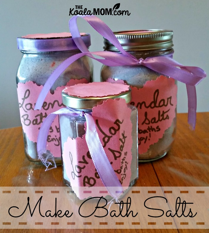 Make bath salts