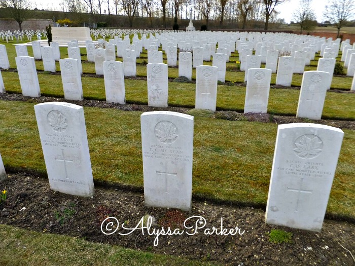The grave of Private G. C. McKean in a war cemetery in France