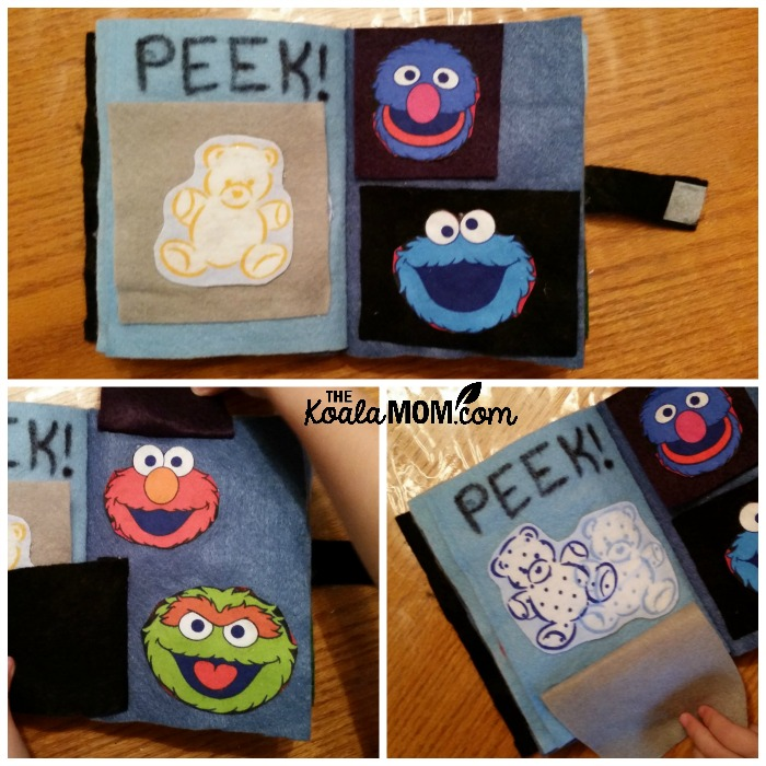 Quiet Book peek-a-boo page
