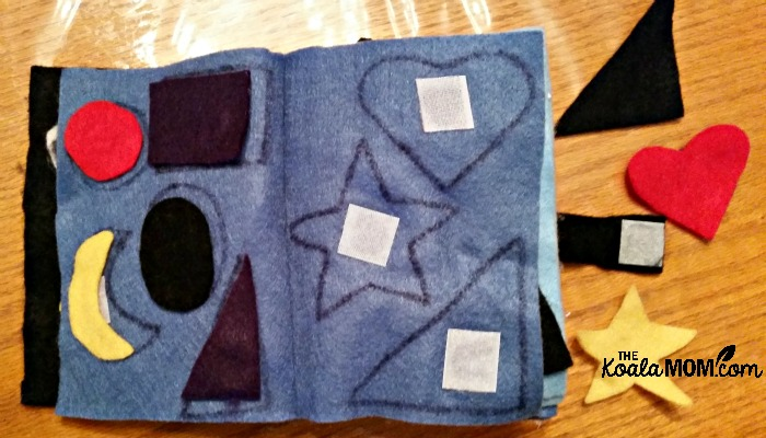 Felt Quiet Book - matching shapes page