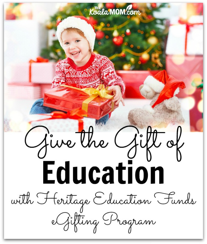 Give the gift of education with the Heritage Education Funds eGifting Program