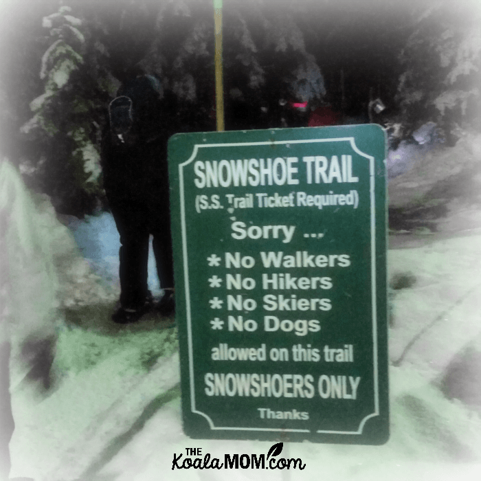 Snowshoe Trail on Cypress Mountain